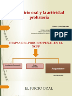La actividad probatoria en el juicio oral Marco León Tomasto