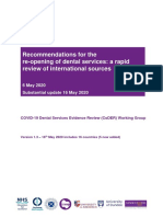 Recommendations for the re-opening of dental services-a rapid review of International Sources 2020