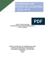 GUÍA Nº 9.  FIDELIZACIÓN DE CLIENTES