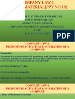 10.  COMPANY LAW-I,PROMOTION ACTIVITIES & FORMATION OF A COMPANY -I