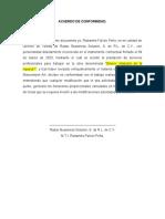 ACUERDO DE CONFORMIDAD