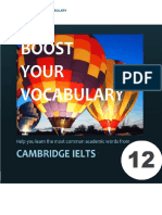 Boost your vocabulary for IELTS Cam 12