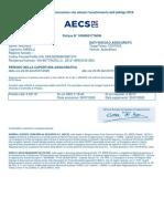 Certificato di Assicurazione
