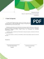 carta de recomendación TRANSPORTES EMERADA