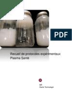 Recueil de Protocoles Expérimentaux Plasma Santé