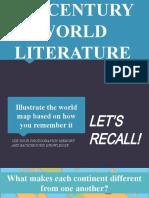World Literature Orientation