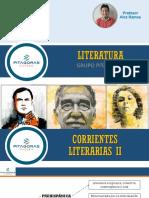 Literatura Sesión 2 Corrientes Literarias II