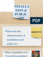 INSTALLATION & public art