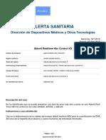 Alerta No_ #047-2019 - Abbott Realtime Hbv Control Kit pdf