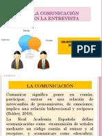 LA COMUNICACIÓN EN LA   ENTREVISTA