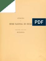 El Sandalo de Juan Fernandez Phillipi 1892 (Anales del Museo)