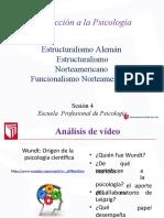 Sesión 04 - Estructuralismo, Funcionalismo