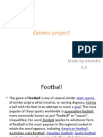 Games project