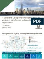 Solutions pour le dallage industriel