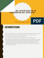 El rol del psicólogo en la prevención del suicidio.