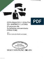 03 Portantiero - La reforma universitaria, una mirada desde el presente