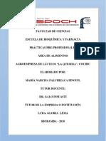 informe de prácticas Pre-Profesionales de alimentos 2