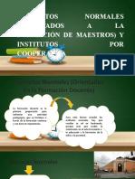 INSTITUTOS NORMALES (ORIENTADOS A LA FORMACIÓN DE MAESTROS) Y INSTITUTOS POR COOPERATIVA.pptx