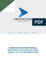 PROYECCION -Sondeo Provinciade Buenos Aires - (Septiembre)