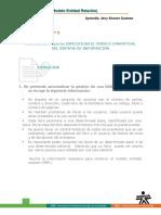 MODELO CONCEPTUAL DEL SISTEMA DE INFORMACION A DESARROLLAR