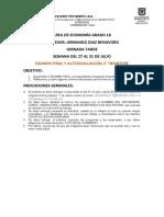 EXAMEN ECONOMIA 10 SEMANA # 4. PROFESOR ARMANDO DIAZ.