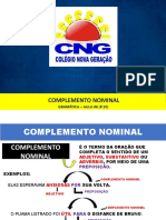 AULA COMPLEMENTO NOMINAL
