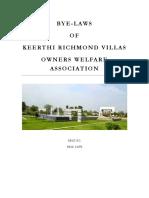 KRVOWA - BYE LAWS