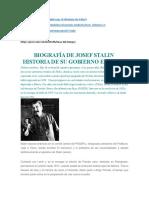 Biografía de Josef Stalin. Historia de su gobierno en Rusia.pdf