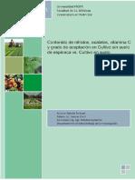 Contenido de nitratos, oxalatos y  vitamina C en muestras del alimento obtenido por medio de cultivos hidropónicos