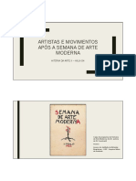 Obras e artistas do modernismo