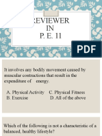 Reviewer in P.E. 11