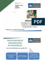 3. Módulo 9. Invetigación de Incidentes, Accidentes y Enfermedades Ocupacionales. Clase 3.