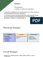 Directional....... Strategies