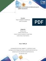 Paso 1 - Determinar la importancia de los Sistemas de Información para la gestión de proyectos Trabajo final
