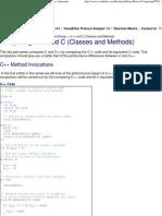 C vs C++ Comparing C and C++ Performance Internals