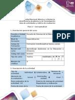 Actividades y rúbrica de evaluación - Paso 2 - Conceptualizar