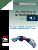 LEY N° 27972 - Ley Organica de Municipalidades