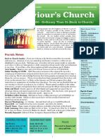st saviours newsletter - 20 sept 2020  trinity 15  back to church