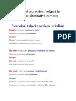 Espressioni volgari e parolacce in italiano
