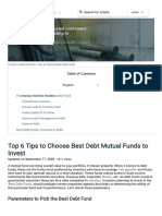 Top 6 Tips to Choose Best Debt Mutual Funds to Invest- Fincash
