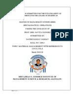 Material Management ADITYA SAWANT