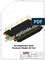 Ilustrasi Drawing Pontoon Model P20T & Specification Data Sheet