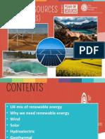 Renewable Energy Resources KS4