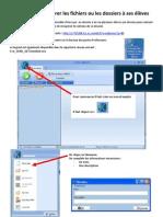 Envoyer et récupérer des fichiers ou des dossiers à ses élèves