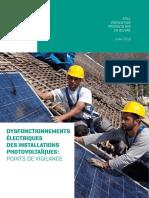 Dysfonctionnements Electriques Des Installations Photovoltaiques - Points de Vigilance