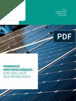 Panneaux Photovoltaiques - Etat Des Lieux Des Pathologies