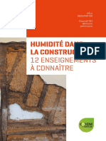 Humidite Dans La Construction -12 Enseignements a Connaitre