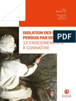 Isolation Des Combles Perdus Par Soufflage - 12 Enseignements a Connaitre