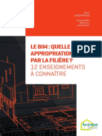 Le BIM - Quelle Appropriation Par La Filiere - 12 Enseignements a Connaitre
