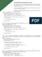 Efetuando cálculos de porcentagem em Java